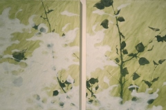 Laurie_Steen_Memory of Green Drawing 32-07 (diptych)